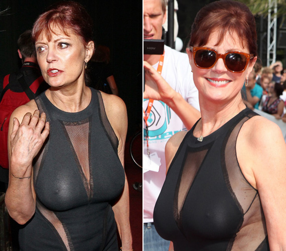 Susan Sarandon sem békélt még meg az idővel, és egy merész ruhában jelent meg a 47. Karlovy Vary-i Nemzetközi Filmfesztiválon.