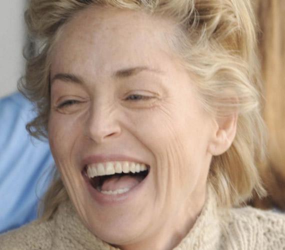 Sharon Stone sem mai csibe, de smink nélküli arca megdöbbentő.