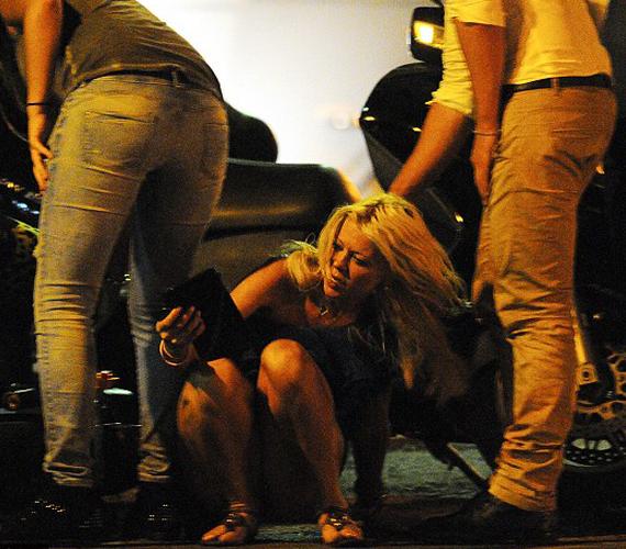 St. Tropez lakói nem először látták részegen a sztárt, és valószínűleg nem is utoljára.