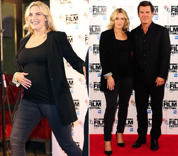 A 38 éves színésznő júniusban jelentette be, hogy ő és harmadik férje, Ned Rocknroll gyermekáldás elé néznek. A premieren filmbeli kollégájával, Josh Brolinnal vett részt.
