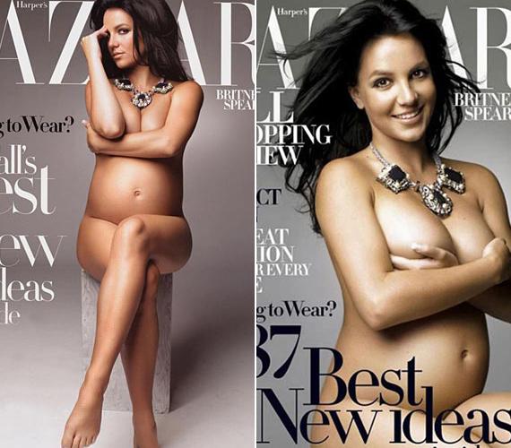 Britney Spears 2006-ban a Harper's Bazaar magainnak vetkőzött le.