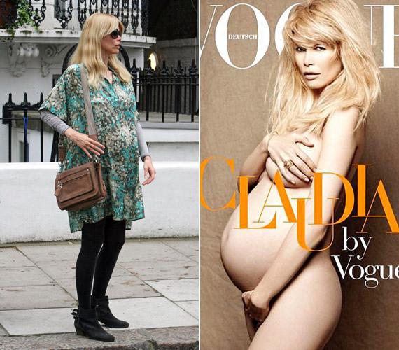 Claudia Schiffer 2010 júniusában állt modellt meztelenül.