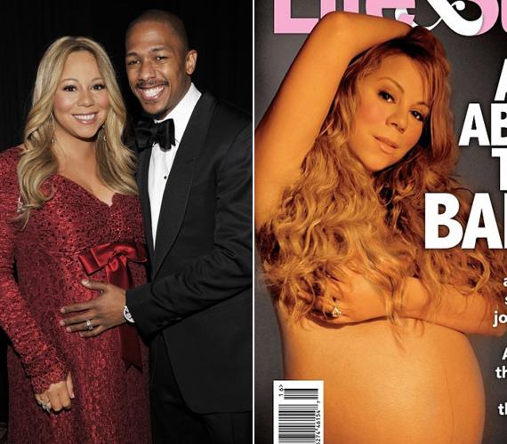 Ikergyermekei születése előtt pózolt Mariah Carey a Lif&Style magazinnak.