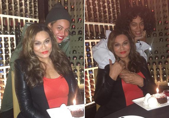 Habár Beyoncé és Solange állítólag nem jönnek ki jól egymással, édesanyjuk születésnapját együtt ünnepelték.