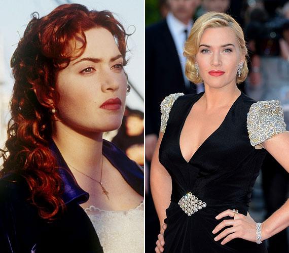 Kate Winslet 36 évesen is gyönyörű, habár frizurája sokszor változott az évek során.