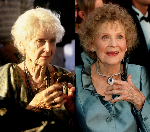 Gloria Stuart, az időskori Rose-t alakító színésznő 2010-ben, százéves korában hunyt el.
