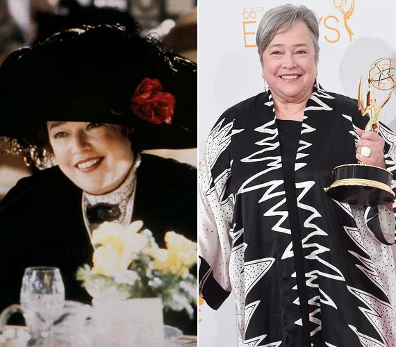 Kathy Bates Molly Brownt alakította, aki bár a felső tízezerhez tartozott, megértette a szerelmeseket a Titanicban. Az 1948-ban született színésznő zseniális karakterszínész, 1990-ben a Tortúra című Stephen King-feldolgozásban a pszichopata rajongó eljátszásáért Oscart is kapott, de melegszívű karaktereket is ugyanúgy kiválóan tud megformálni. A sztár legutóbb az Amerikai Horror Story című sorozatban bukkant fel.