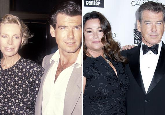 Pierce Brosnan és imádott feleségei. Habár a színészt a Bond-filmek után igazi szexszimbólumnak tartották, az életében igazán mégis csak ennek a két nőnek jutott hely.