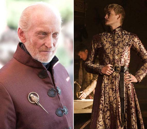 A hatalom tényleges birtokosa, Tywin Lannister - Charles Dance - és az ifjú király, Joffrey Baratheon - Jack Gleeson.