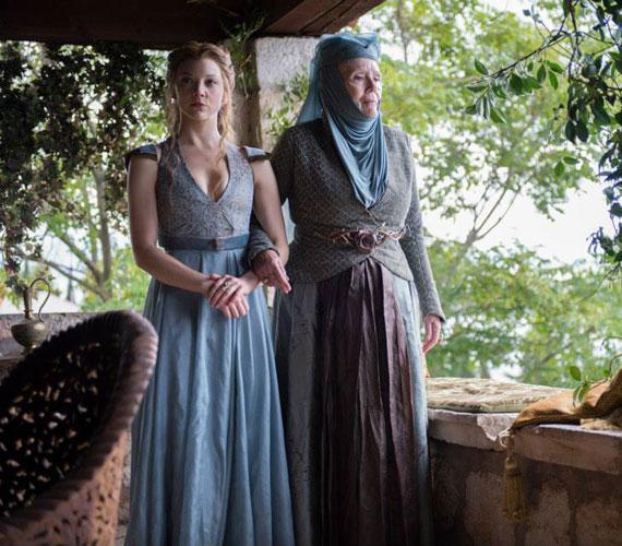 Margaery Tyrell - Natalie Dormer - és nagyanyja, Olenna Tyrell, a Töviskirálynő - Diana Rigg.