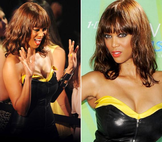 A szupermodell-műsorvezető ruhájába préselve is szívesen pózolt a fotósoknak, a díjátadó utáni partin pedig felszabadultan táncolt.