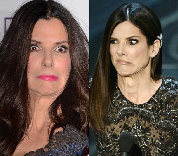 Sandra Bullock sokkal öregebbnek néz ki, ha erős arcjátékba kezd.