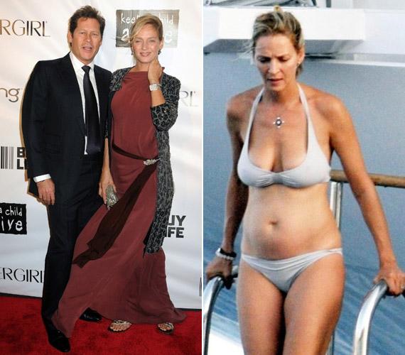 Az általa oly sokat hordott bő szabású ruhák után a leleményes fotósoknak végül bikiniben is sikerült lencsevégre kapniuk a 41 éves színésznőt.