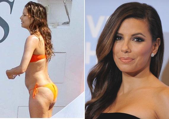 A 40 éves Eva Longoria néha minket is meg tud lepni egy-egy bikinis fotóval. Hol nagyon jól néz ki rajtuk, hol pedig inkább narancsbőrére és a felszedett kilókra terelődik a figyelem.