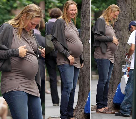 Még júniusban, amikor a nyolcadik hónapban járt, úgy tűnt, a terhesség nagyon megviselte.