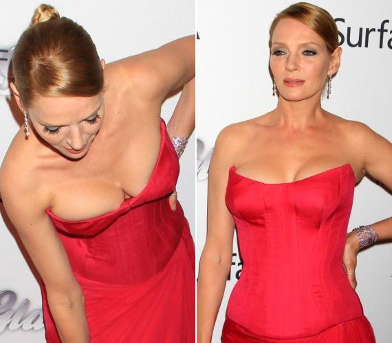 Bár a ruha remekül állt a színésznőn, azért ennyire behajolnia - főleg a fotósok előtt - nem kellett volna.