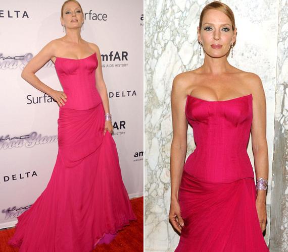 A színésznő azt mondta, szeretett volna ördögien szexi lenni, ezért választotta ezt a ruhát.