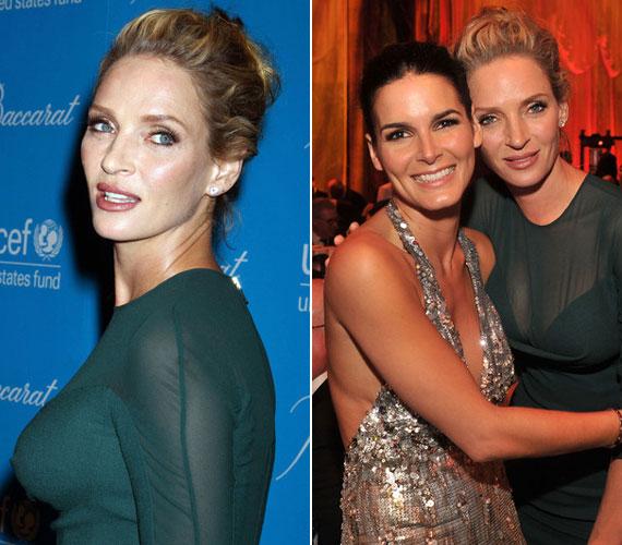 Többek között Angie Harmon színésznővel is pózolt a rendezvényen.