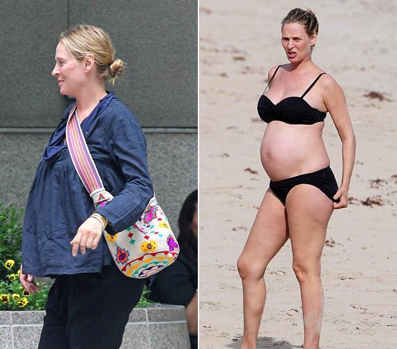 Idén februárban jelentették be, hogy gyermeket várnak. A képeken a színésznő gömbölyödő pocakjával ruhában és bikiniben látható. Kislányának 2012. július 16-án adott életet.