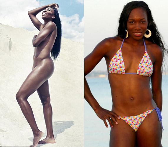 Venus Williams bátran mutatta meg bájait meztelenül is.
