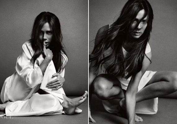 Nem mindennapi oldaláról mutatkozik be az egykori énekesnő. Ezekkel a fekete-fehér fotókkal Beckham neje pajkosabb oldalát mutatja meg. Mezítláb, zilált hajjal, és minimális sminkben pózolt a fotósoknak.
