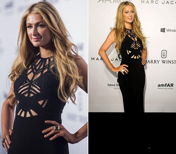 Még a botrányhős Paris Hilton is egy elegáns, visszafogottan kivágott fekete estélyiben vett részt a rendezvényen.