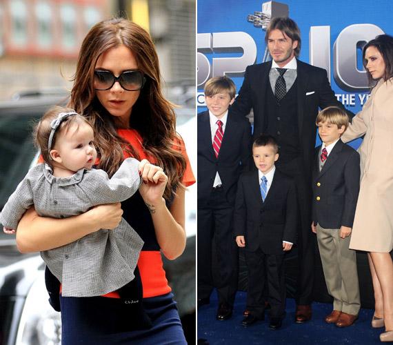 Férjével, David Beckhammel három fiú után 2011-ben kislányuk született, aki a Harper Seven nevet kapta.