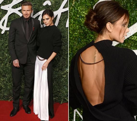 Victoria Beckhamet a gálára férje is elkísérte, aki szombaton autóbalesetet szenvedett, de láthatóan nincs semmi baja.