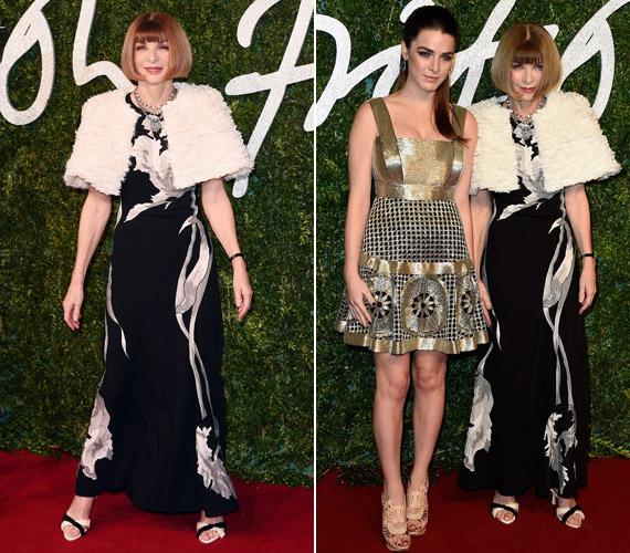 A Vogue nagyasszonya, Anna Wintour lányával,Bee Shafferrel érkezett.
