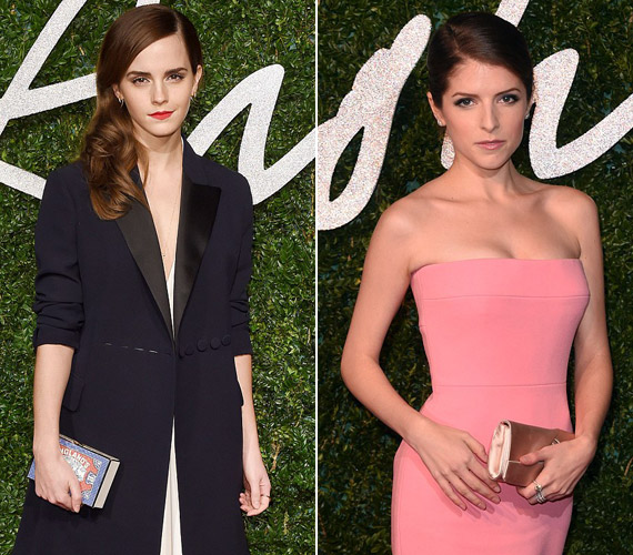 Anna Kendrick és Emma Watson a visszafogott elegancia híve volt.