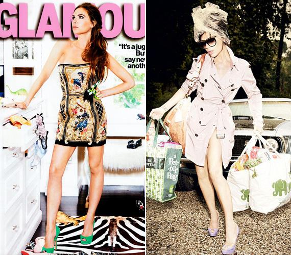 A Glamour egyik korábbi számában nem kellett szerepet játszania, maga volt a divatért rajongó nő.