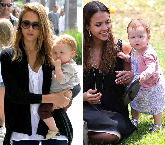 Jessica Alba kislánya, Haven majdnem egyidős Harperrel.