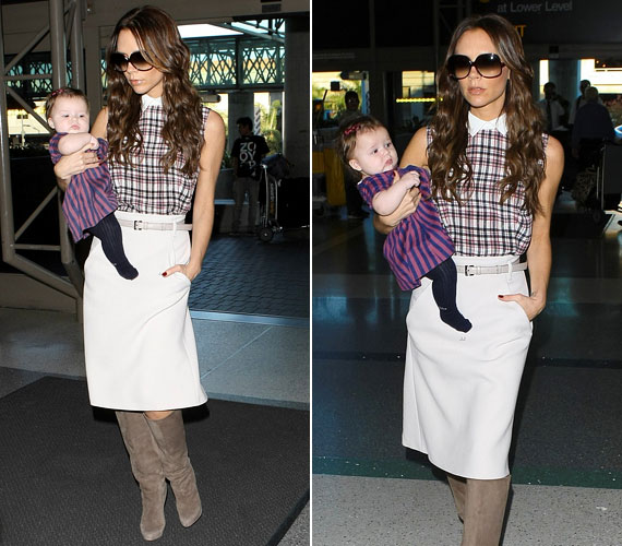Akár egy játék baba: Victoria mindig divatosan öltözteti lányát.