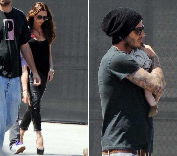 A sztárpárnak Harper az első kislánya, eddig ugyanis három fia született, nem csoda, hogy David nem tud betelni a kicsivel.