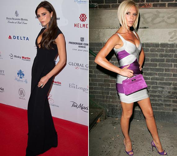 Vörös szőnyeg: Victoria Beckam hétfő este a Global Gift gálán jelent meg a londoni Four Seasons hotelben, melyre egy visszafogott, fekete ruhát választott - amúgy is kedvence a fekete, lényegében szinte minden rendezvényen ebben látjuk. Nem úgy, mint évekkel korábban, amikor színes, testhezálló ruhákban és mellei hangsúlyozásával próbált kitűnni - mindkettőre alkalmas volt például ez a Hervé Leger bandázsruha.