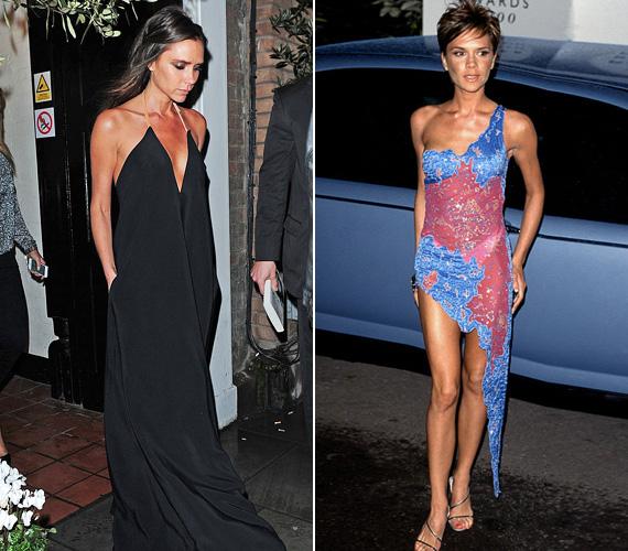 Ruha bármilyen alkalomra: legyen az baráti látogatás vagy vacsora, Victoria Beckham többnyire marad az egyszerű feketénél. 2000 környékén még burjánzó színeket láttunk tőle - azóta valószínűleg egy doboz mélyén pihennek az egykori ruhák.