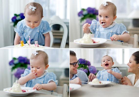 A kis Estelle első születésnapját is az 1550 négyzetméteres lakóterületű Haga-kastélyban ünnepelte.