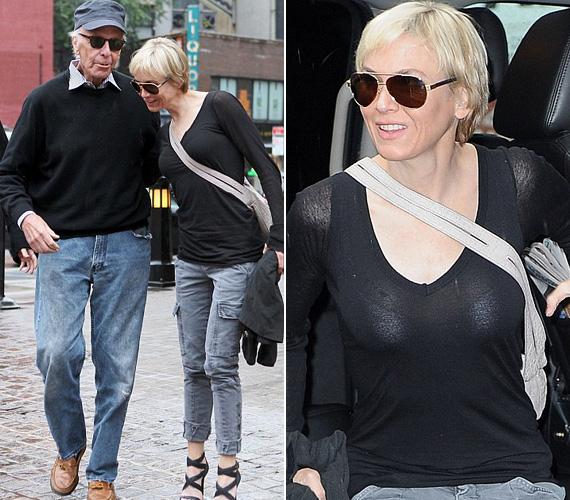 Renée Zellwegert 2010-ben kapták le ebben a fekete felsőben. Ekkor éppen Bradley Cooperrel járt, az ő édesapjával találkozott New Yorkban - talán nem véletlenül ölelgette annyira a férfi fia barátnőjét.
