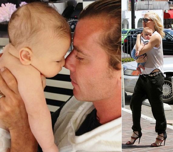 """Február 28-án született meg Gavin Rossdale és Gwen Stefani harmadik kisfia, Apollo Bowie Flynn Rossdale, akit a fotón éppen büszke apukája ölelget. Az énekesnő június 16-án, apák napján posztolta a tündéri fotót az Instagramján, a következő kísérőszöveggel: """"Mindig is tudtam, hogy jó apa leszel."""""""
