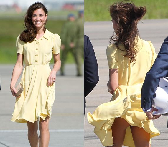 Katalin hercegnőt a királynő többször megfeddte a ruházata miatt, ráadásul nemegyszer hozta már kínos helyzetbe a szeles időjárás.