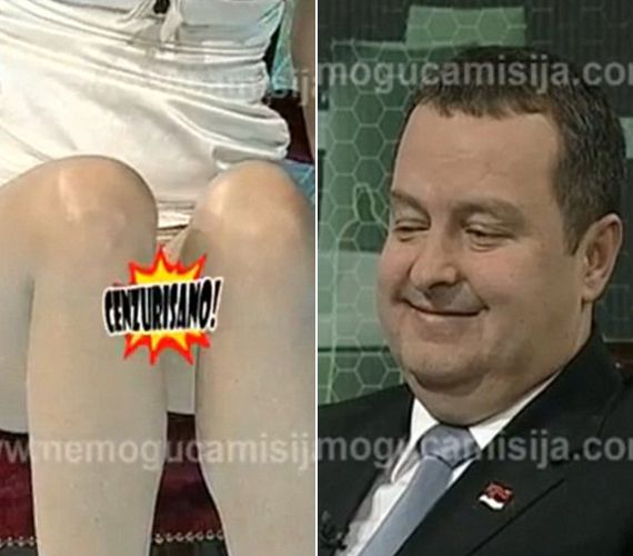 A műsorvezető Sharon Stone-szerű mozdulatát látván a miniszter egy pillanatra lefagyott, majd mosoly terült el az arcán.