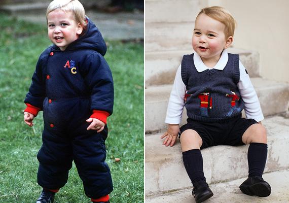 Így huncutkodnak a kis hercegek. Katalin hercegné ebből a mosolyból tudja, hogy rosszban sántikál a kisfia.