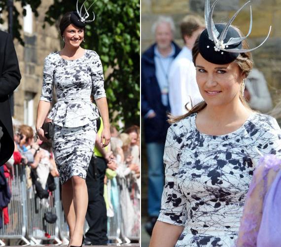 Bár az esküvők kifejezetten Pippa Middleton területének számítanak, most mégsem rá figyelt a nagyérdemű. Fekete-fehér peplumos ruhájában szép volt, de nem tűnt ki a tömegből.