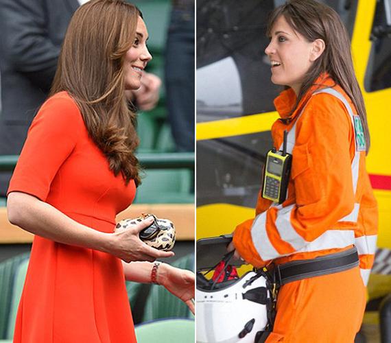 Dr. Gemma Mullan orra, szemöldöke és álla is nagyon hasonlít oldalról Katalin hercegnőére, ami azonnal feltűnt a brit sajtó munkatársainak.
