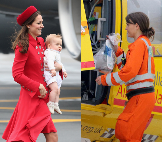 Lehet, hogy szándékosan választották Vilmos herceg mellé éppen őt? Ha nem tudnánk, hogy egy másik ember van a képen, biztosan összetévesztenénk Katalin hercegnővel.