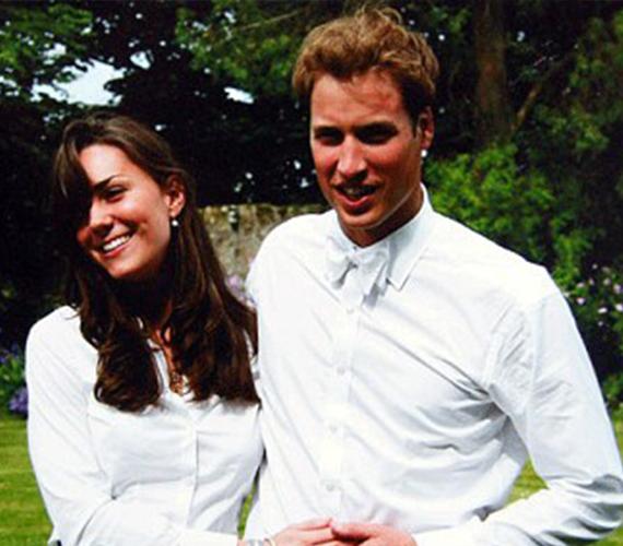 Az itt látható kép 2003-ban, a diplomaosztójuk napján készült, ekkor már együtt jártak. Katie Nicholl a hercegnőről írt életrajzi könyvében, melynek címe Kate: a jövő királynéja, azt állítja, Katalin tudatosan készült a herceg megszerzésére. Kutatásai során kiderítette, a hercegnő középiskolai barátaikon keresztül már az egyetem előtt is ismerte Vilmost, és csak azért ment a St. Andrewsra tanulni, hogy elcsavarja a leendő király fejét.