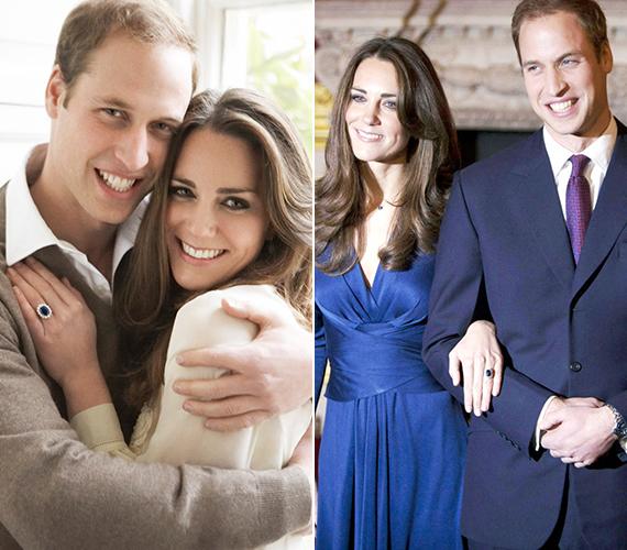 Bár 2007-ben rövid időre szakítottak, a pár rendezni tudta nézeteltéréseit. A brit trón várományosa 2010. október 20-án jegyezte el kedvesét, de ezt csak november 16-án jelentették be hivatalosan. Vilmos herceg édesanyja, Diana hercegnő egykori gyűrűjét húzta Katalin ujjára.