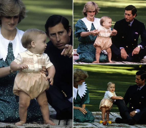 Az akkor még boldognak tűnő háromfős kis családot szívesen fotózták a körúton.