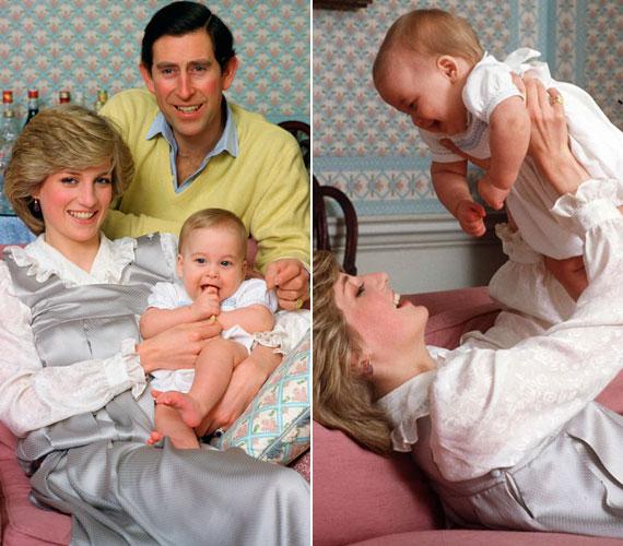 Ezek a vidám felvételek Vilmos herceg Kensington-palotában történt első hivatalos fotózásán készültek.
