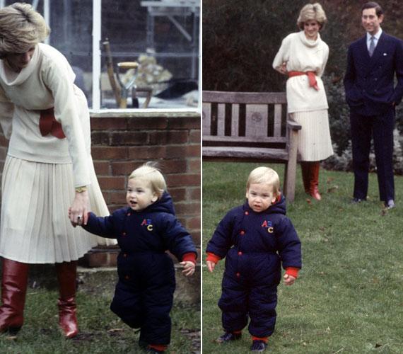 A kis Vilmos az első lépéseket a Kensington-palota kertjében tette meg 1983 decemberében.